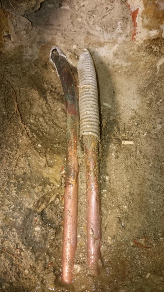 fuite sur tuyauterie cuivre